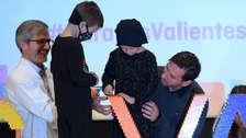 Messi se emocionó en inicio de obras de centro contra el cáncer infantil