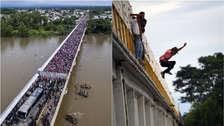 Miles de hondureños que migran a EE.UU. entraron por la fuerza a México