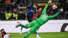 Mauro Icardi y su gol de cabeza que le dio el triunfo al Inter sobre el AC Milan