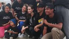 Angelina Jolie está en Perú para conocer la situación de los migrantes venezolanos