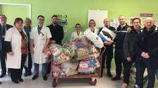 Gendarmes franceses donan consolas robadas a niños hospitalizados