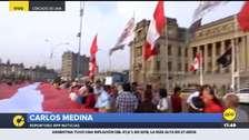 Colectivos sociales realizaron plantón en apoyo a Richard Concepción en Lima y Cusco