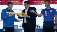 Nuevos retos: Eduardo Berizzo fue presentado como técnico de la Selección de Paraguay