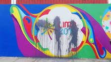 Vándalos atentaron contra murales dibujados para los Panamericanos 2019