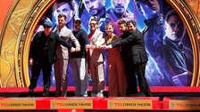 Protagonistas de Avengers: Endgame dejaron sus huellas en el Paseo de la Fama de Hollywood