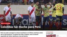 Perú vs. Colombia: prensa colombiana festeja el triunfo en Lima previo a la Copa América 2019