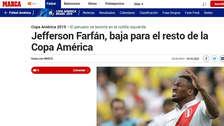 Jefferson Farfán: así reaccionó la prensa internacional tras desconvocatoria del delantero de la Selección Peruana