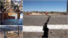 Incendios, grietas y corte de servicios: 20 imágenes que dejó el terremoto de 7.1 que sacudió a California