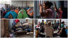 La espera por un incierto asilo en EE.UU. desborda los albergues en México [FOTOS]
