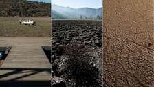 18 impactantes fotos de la laguna seca en Chile que muestra los graves efectos del cambio climático