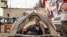 Así cumple Mark Vito Villanella la huelga de hambre por la libertad de Keiko Fujimori [FOTOS]