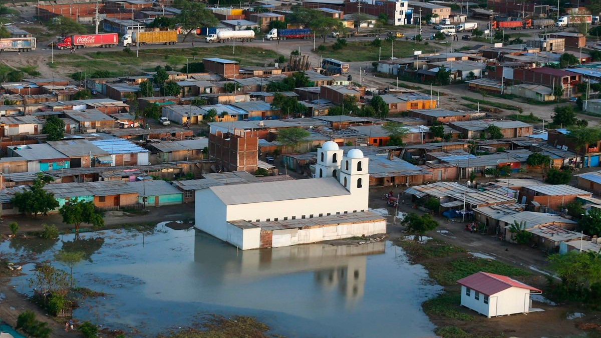 Así se ve Piura desde el cielo tras las nuevas inundaciones