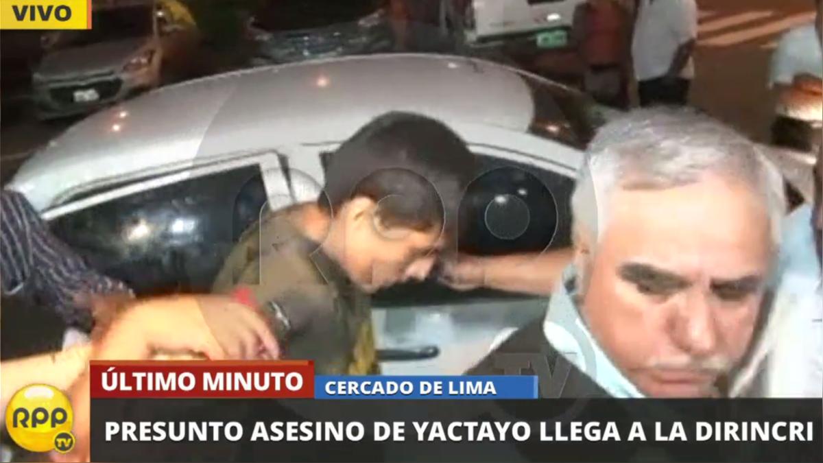 La Policía capturó al presunto asesino del periodista José Yactayo