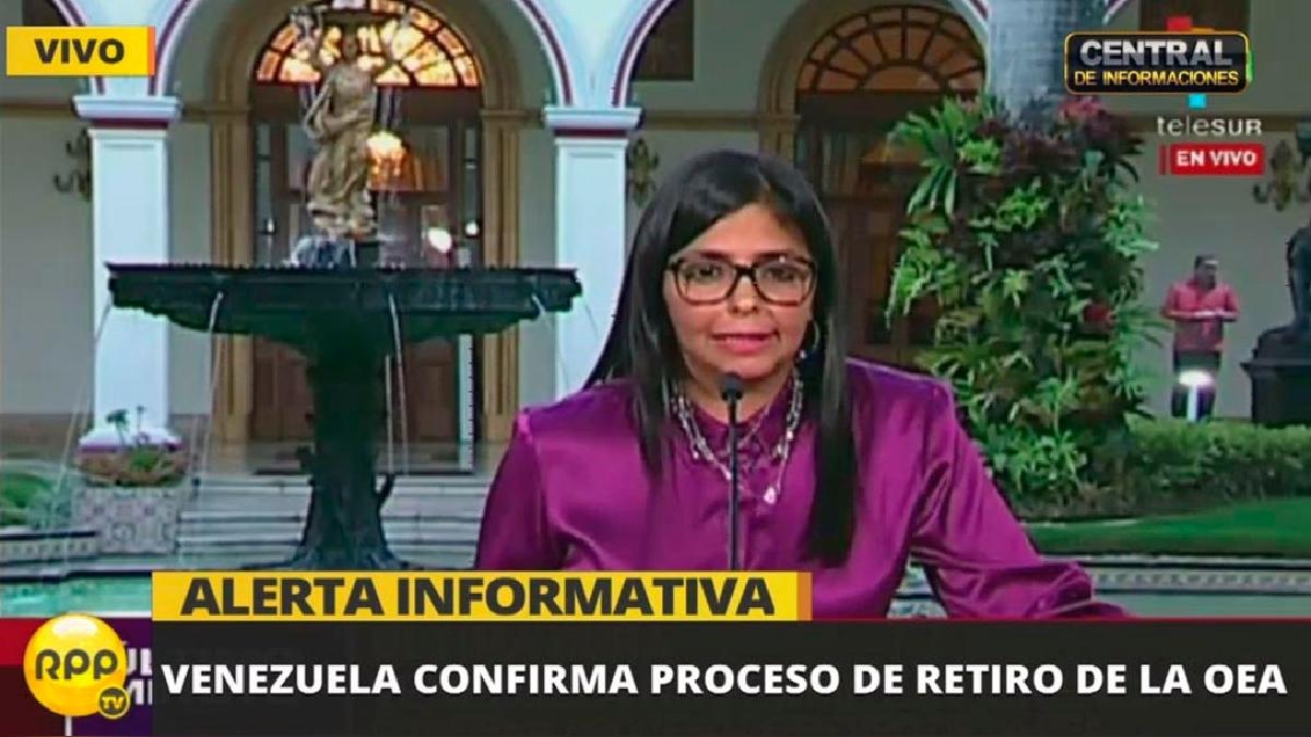 Venezuela anuncia que iniciará el proceso para retirarse de la OEA