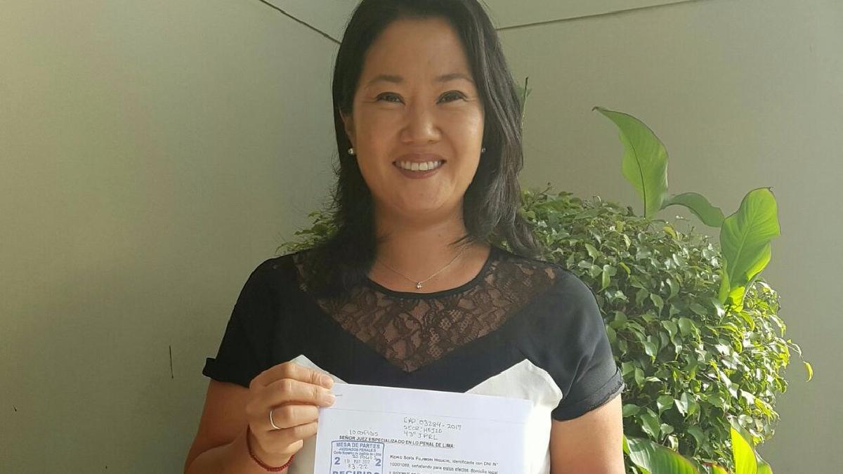 Keiko Fujimori presentó el hábeas corpus con el que busca liberar a su padre