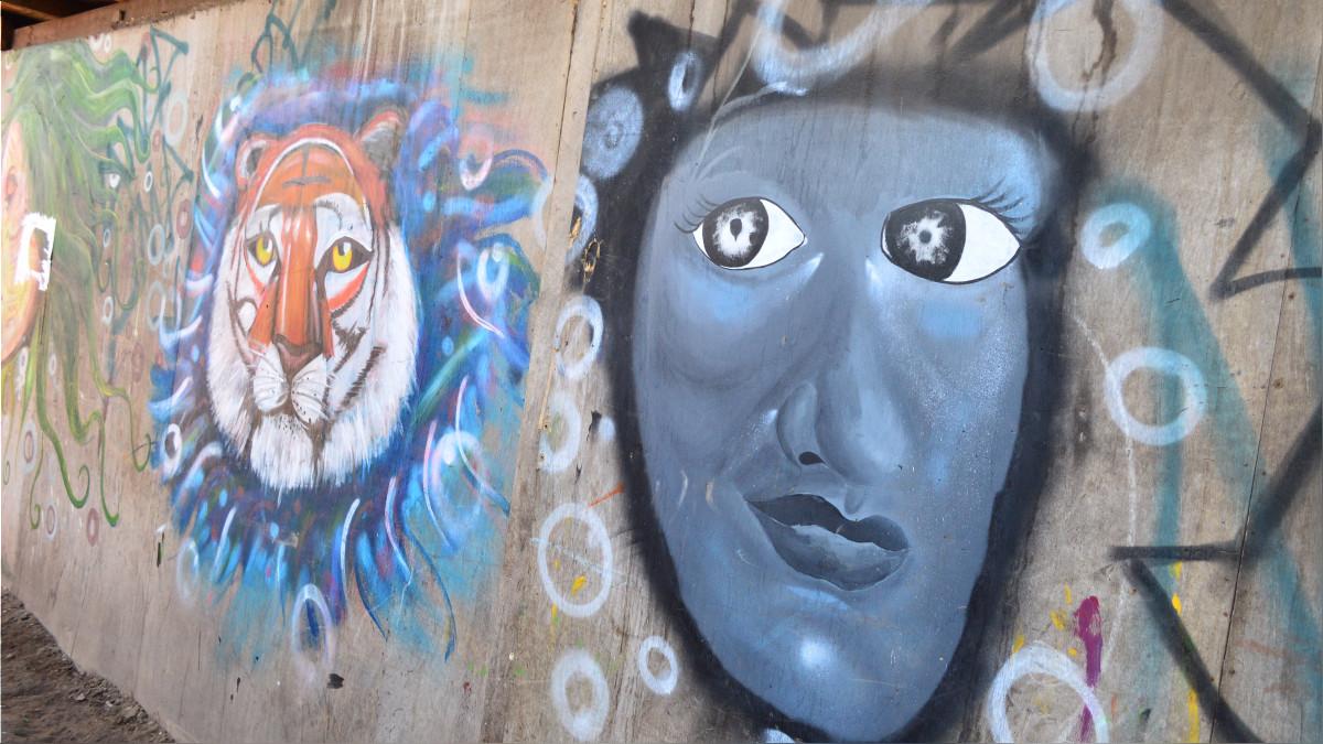 Los murales de los artistas Shipibos.