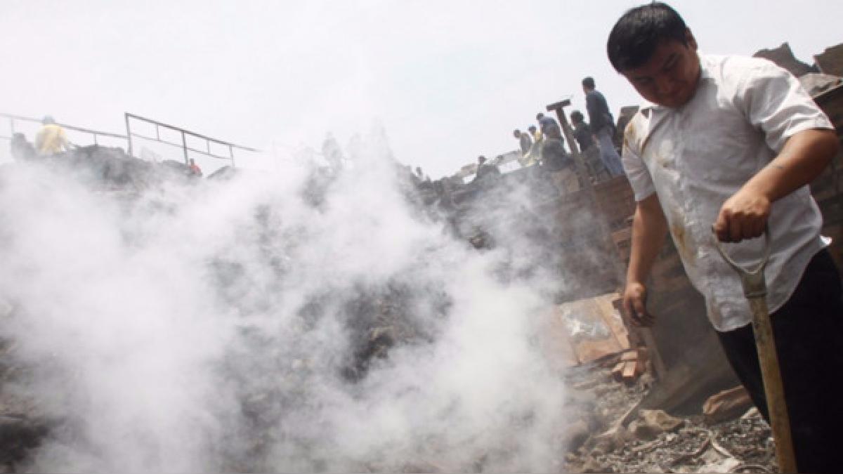Más de 2 mil personas damnificadas dejó el incendio que se produjo el  4 de noviembre de 2016 en la comunidad Shipibo-Konibo de Cantagallo.