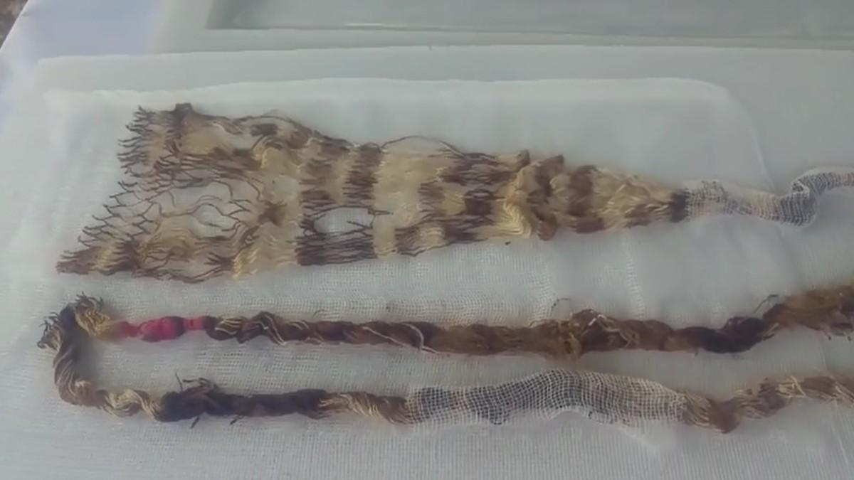 Textiles también fueron descubiertos. | Fuente: RPP Noticias | Fotógrafo: Rolando Gonzales