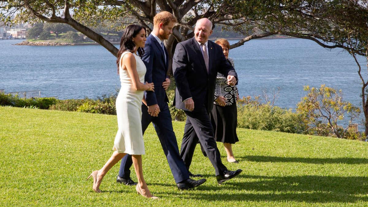 Los duques de Sussex visitaron Sidney, Australia, tras anunciar que esperan un bebé. | Fuente: AFP | Fotógrafo: STEVE CHRISTO