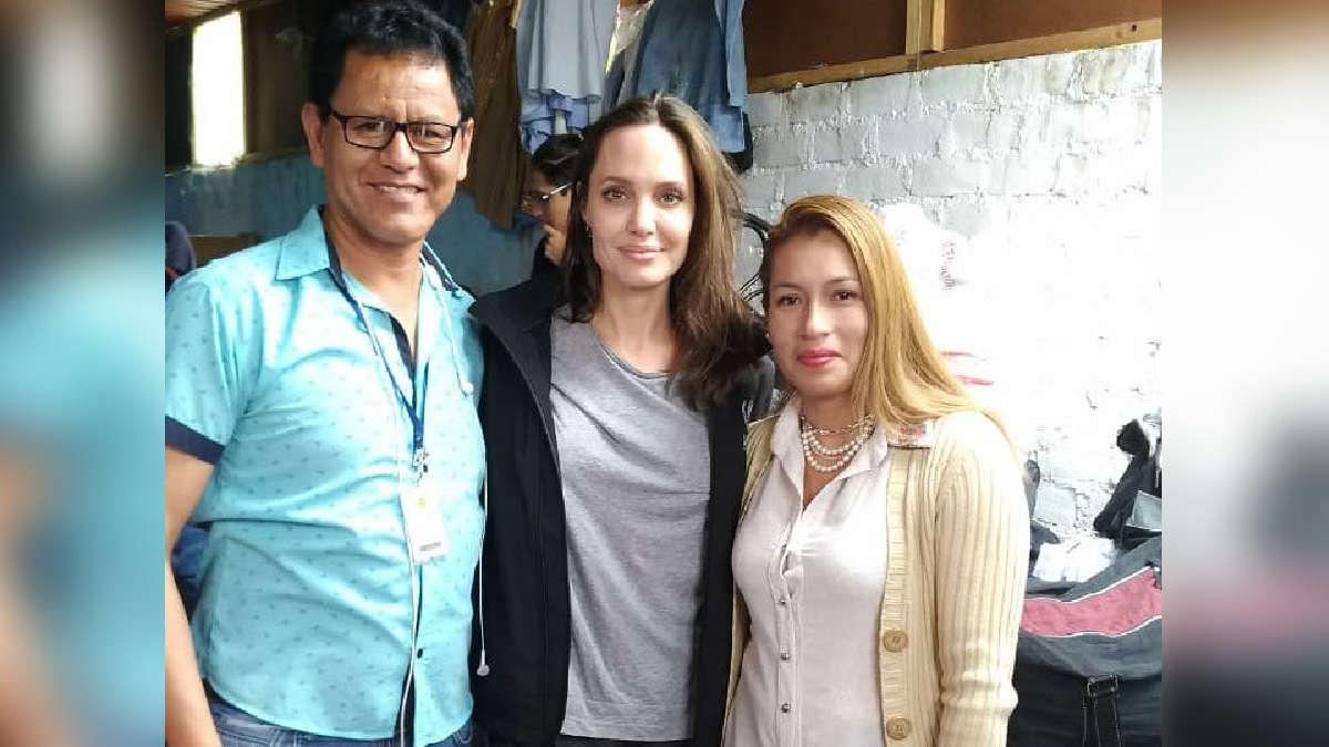 Angelina Jolie visitó el albergue Sin Fronteras en San Juan de Lurigancho. | Fuente: Cortesía Albergue Sin Fronteras