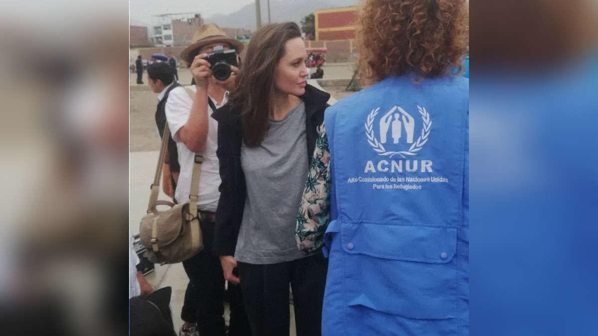Angelina Jolie, enviada especial de Acnur por la crisis de refugiados venezolanos. | Fuente: Twitter
