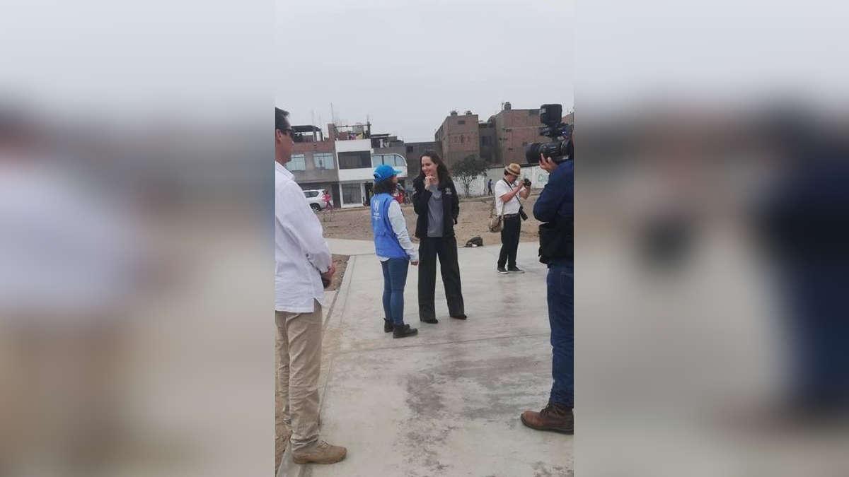Angelina Jolie se encuentra en Perú. | Fuente: Twitter