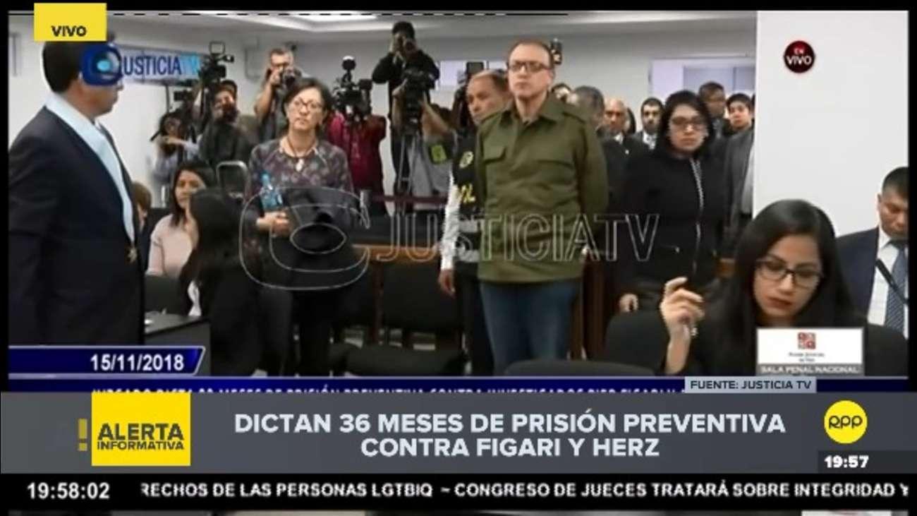 Juez Richard Concepción Carhuancho dictó 36 meses de prisión preventiva para Pier Figari y Ana Herz