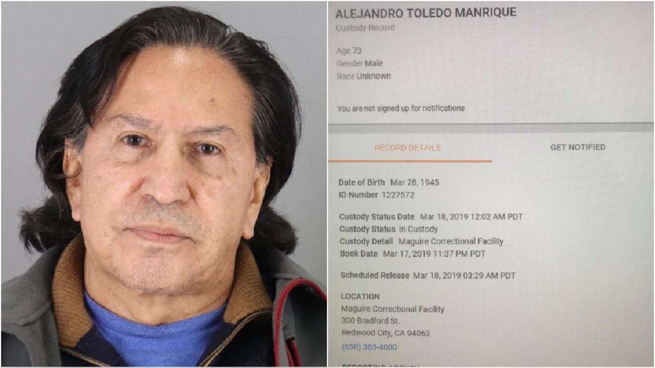 Cancillería confirma que Alejandro Toledo fue detenido en Estados Unidos