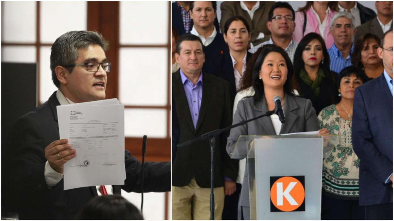 PJ evaluará pedido para incorporar a Fuerza Popular en la investigación a Keiko Fujimori