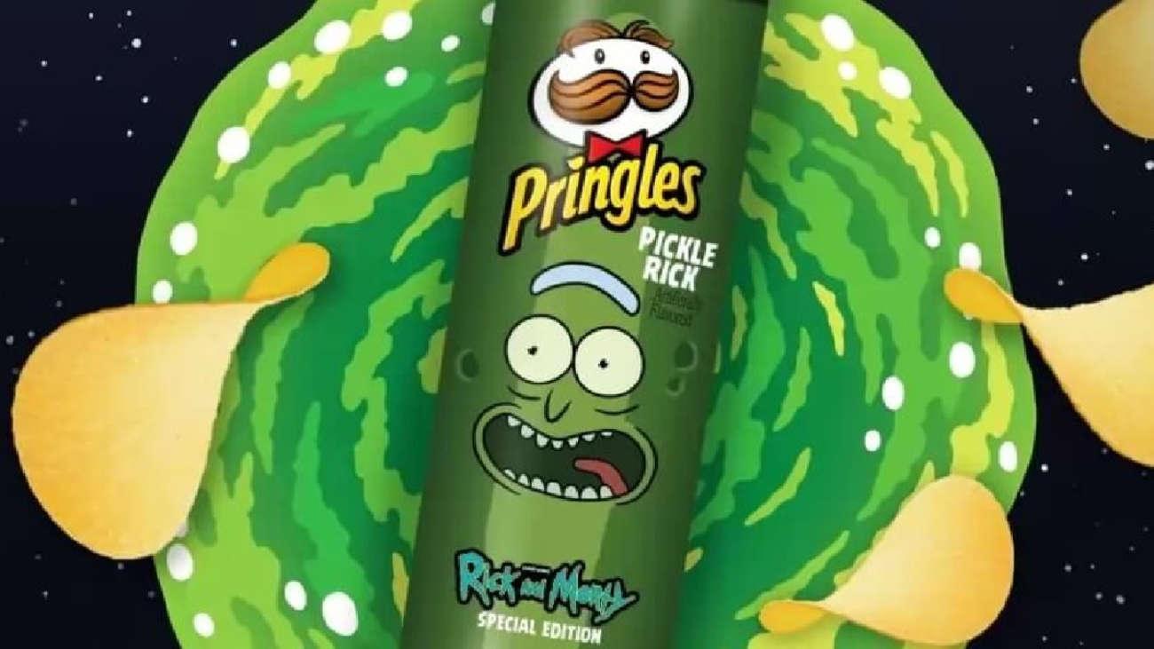 Geek I M Pickle Rick Pringles Presentó Su Nuevo Sabor Inspirado En Rick Y Morty Rpp Noticias